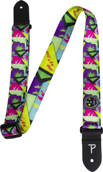 Perri's 1.5' Maui and Sons Printed Seatbelt Uke Strap (shark tank) Gitarren-Gurte