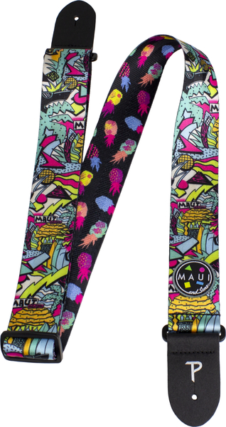 Perri's 2' Maui and Sons Printed Seatbelt Guitar Strap (pop) Gitarren-Gurte