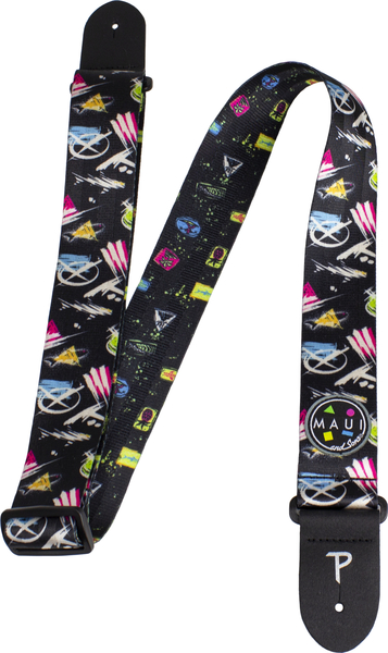 Perri's 2' Maui and Sons Printed Seatbelt Guitar Strap (super rad) Gitarren-Gurte