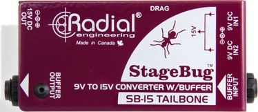 Radial SB-15 / StageBug Converter W/Buffer (9V to 15V) Active Direct Injection Boxes