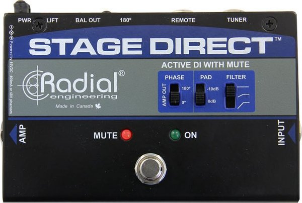 Radial StageDirect StageDirect Muting DI Active Direct Injection Boxes