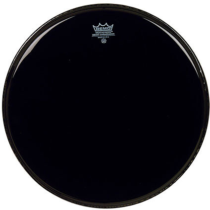 "Remo Ambassador (ebony) 16"" Tom Heads"