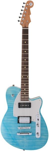 Reverend Guitars Double Agent OG 20 (Sky Blue Flame Maple) Sonstige Bauarten E-Gitarren
