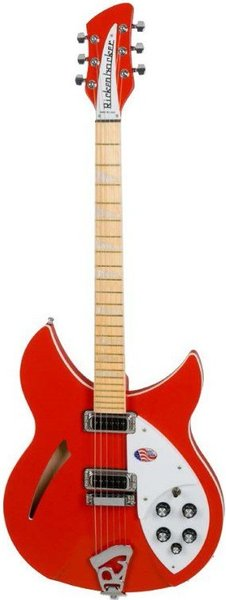 Rickenbacker 360 LTD (Fire Alarm Red) Semi-Hollowbody Electric Guitars