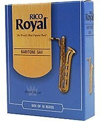 Rico Royal 2.5 (French file cut) Baritone Saxophone Reeds Strength 2.5