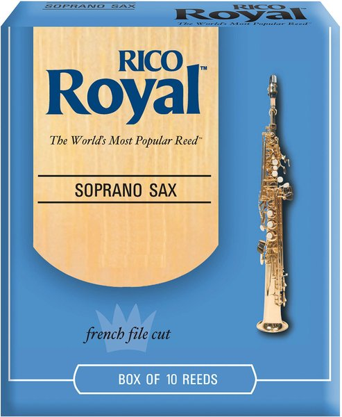 Rico Royal French File Cut 2.5 / Sopran Sax Reeds (set of 10) Soprano Saxophone Reeds Strength 2.5