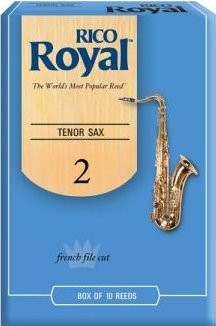 Rico Royal Tenor Sax Reeds #2 RKB1020 (strength 2.0, french file cut / set of 10) Tenor Saxophone Reeds Strength 2