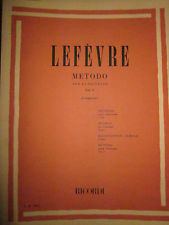 Ricordi Milano Metodo Vol 2 Lefevre Jean Xavier Songbooks for Clarinet