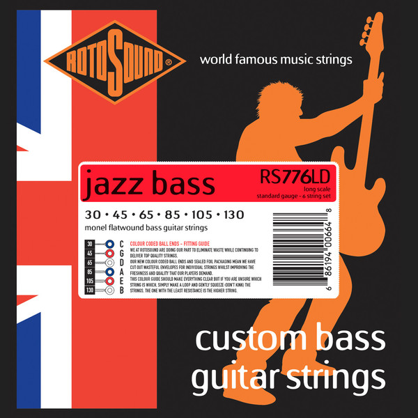 Roto Sound Jazz Bass RS776LD (30-130 - long scale) 6-String Electric Bass String Sets