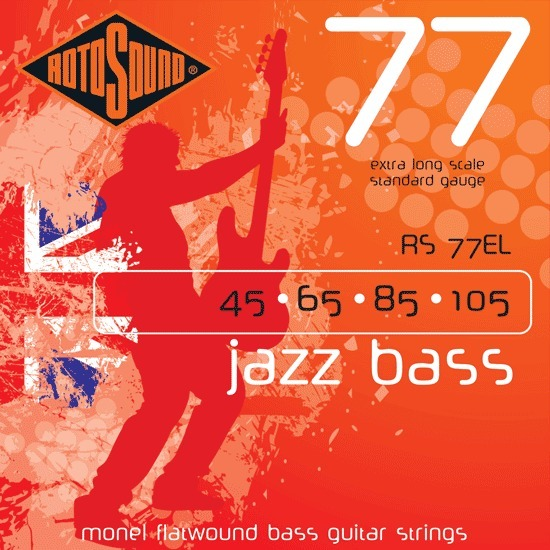 Roto Sound Jazz Bass RS77EL (45-105 - extra long scale) 4-String Electric Bass String Sets .045