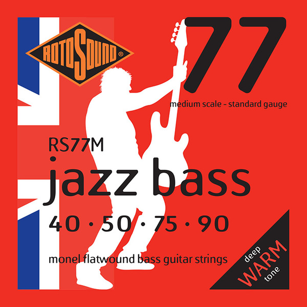 Roto Sound Jazz Bass RS77M (40-90 - medium scale) 4-String Electric Bass String Sets .040
