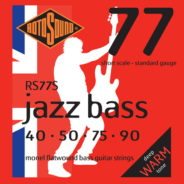 Roto Sound Jazz Bass RS77S (40-90 - short scale) 4-String Electric Bass String Sets .040