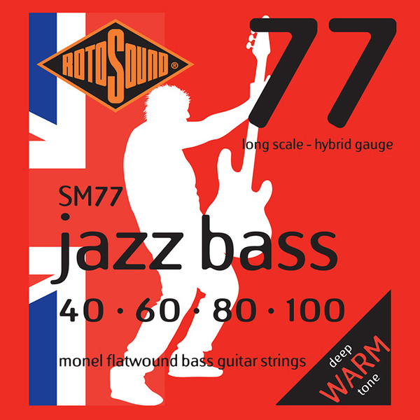 Roto Sound Jazz Bass SM77 (40-100 - long scale) 4-String Electric Bass String Sets .040