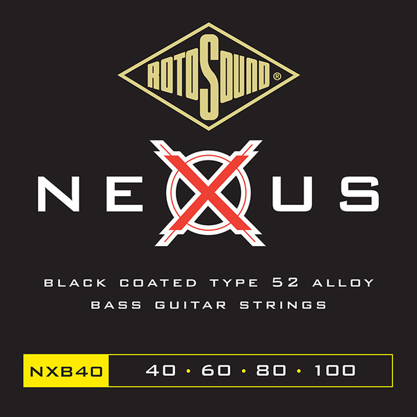 Roto Sound NXB40 Polymer Coated (40-100) 4-String Electric Bass String Sets .040