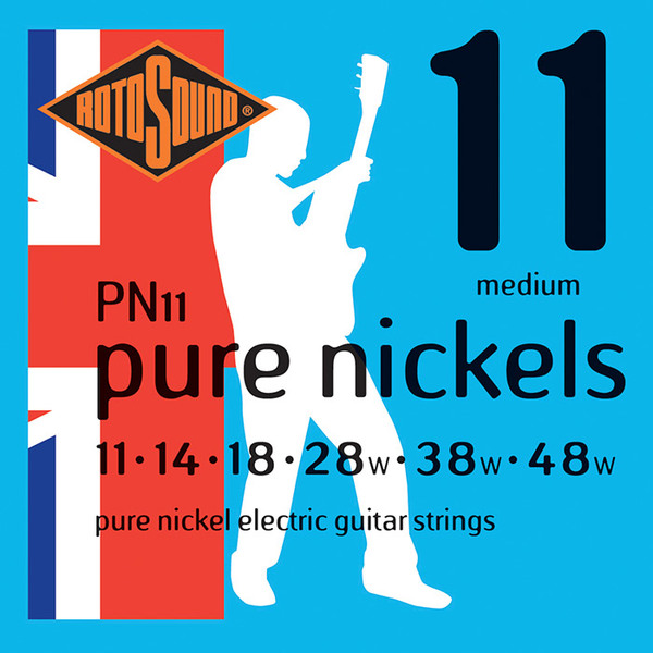 Roto Sound Pure Nickels PN11 Medium (11-48) .011 Electric Guitar String Sets