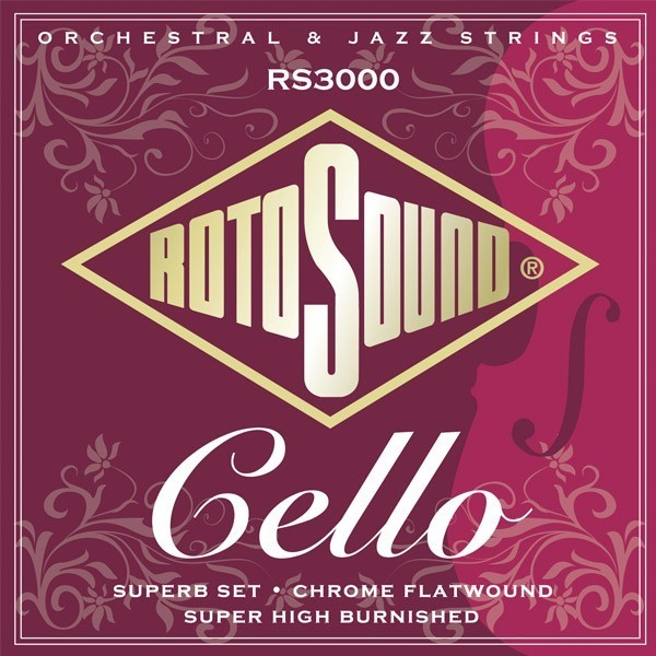 Roto Sound RS3000 Cello Strings Professional Set (chrome flatwound) Cello String Sets