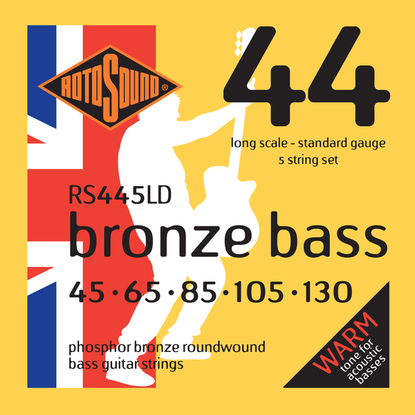 Roto Sound RS445LD Phosphor Bronze (45-130) 5-String Acoustic Bass String Sets