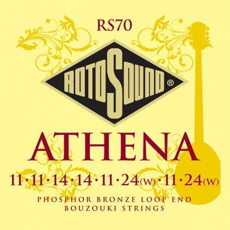 Roto Sound RS70 Athena Bouzouki Strings Set (phosphor bronze loop end) Miscellaneous Strings