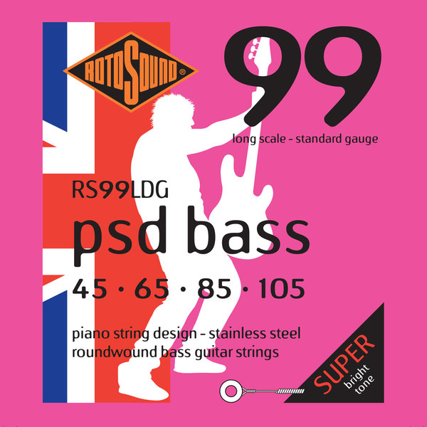 Roto Sound RS99LDG (45-105 - long scale) 4-String Electric Bass String Sets .045