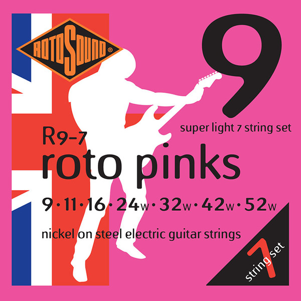 Roto Sound Roto Pinks R9-7 (9-52) 7-String Electric Guitar String Sets
