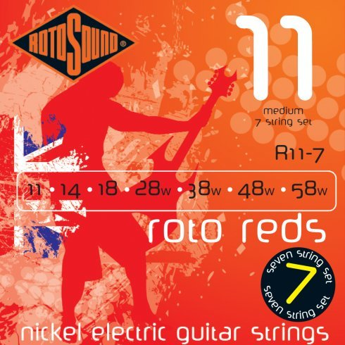 Roto Sound Roto Reds R11-7 (11-58) 7-String Electric Guitar String Sets