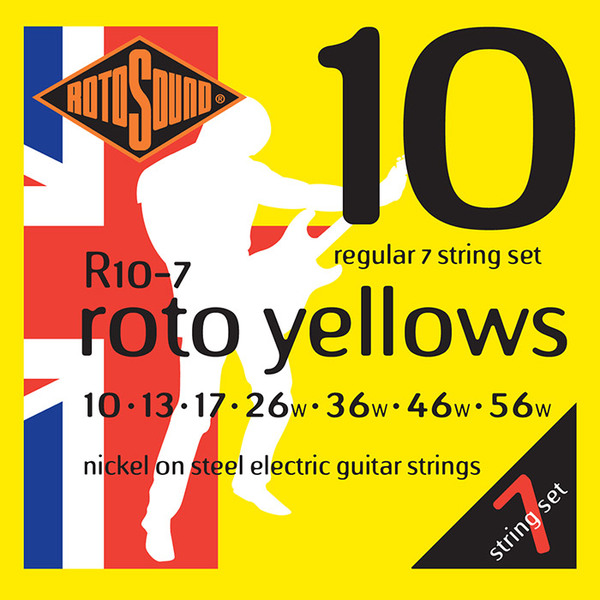 Roto Sound Roto Yellows R10-7 (10-56) 7-String Electric Guitar String Sets