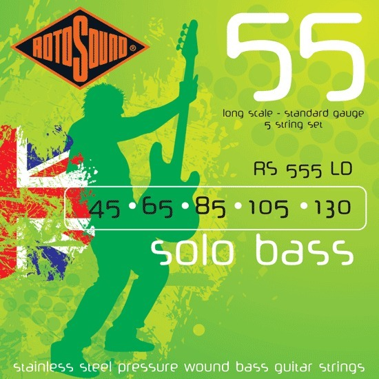 Roto Sound Solo Bass RS555LD (45-130) 5-String Electric Bass String Sets