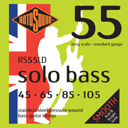 Roto Sound Solo Bass RS55LD (45-105) 4-String Electric Bass String Sets .045