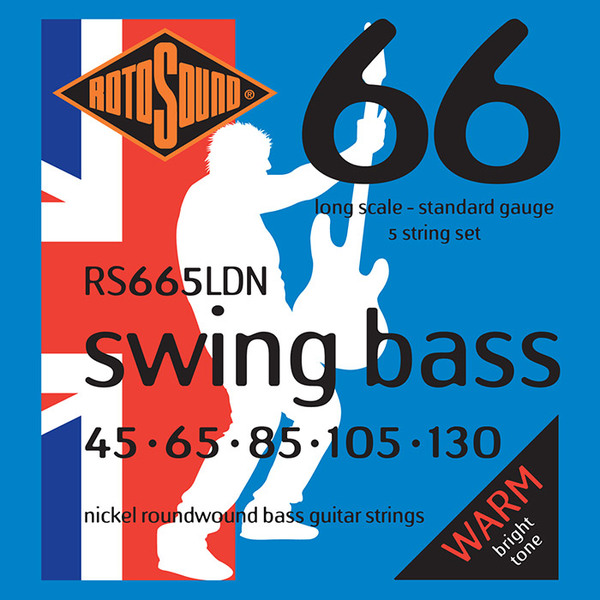 Roto Sound Swing Bass Nickel RS665LDN (45-130 - long scale) 5-String Electric Bass String Sets