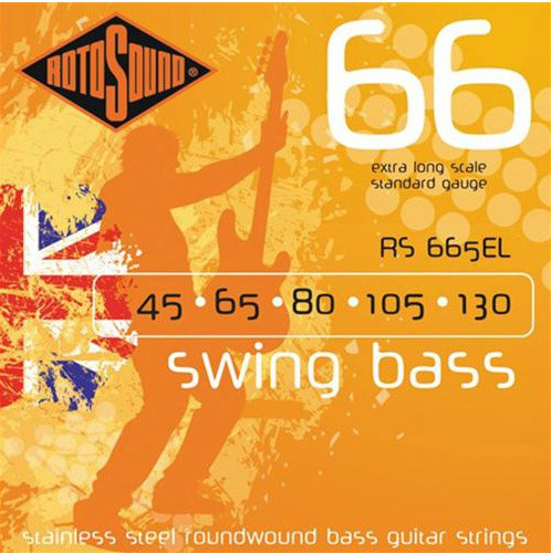 Roto Sound Swing Bass Stainless Steel RS665EL (45-130 - extra long scale) 5-String Electric Bass String Sets
