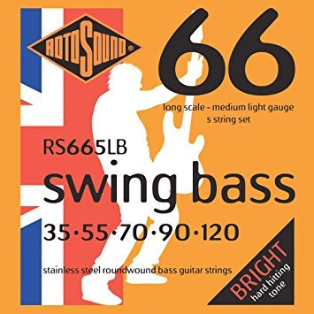 Roto Sound Swing Bass Stainless Steel RS665LB (35-120 - long scale) 5-String Electric Bass String Sets