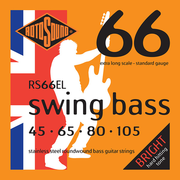 Roto Sound Swing Bass Stainless Steel RS66EL (45-105 - extra long scale) 4-String Electric Bass String Sets .045