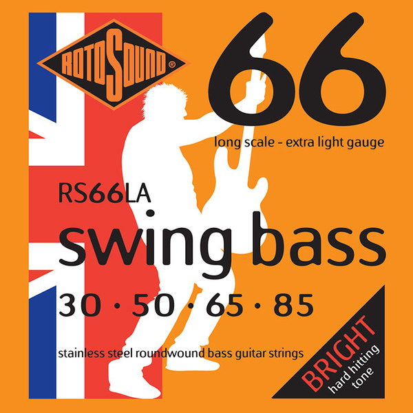 Roto Sound Swing Bass Stainless Steel RS66LA (30-85 - long scale) 4-String Electric Bass String Sets .030