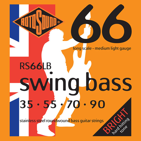 Roto Sound Swing Bass Stainless Steel RS66LB (35-90 - long scale) 4-String Electric Bass String Sets .035