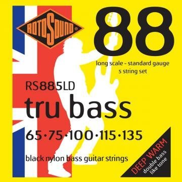 Roto Sound Tru Bass RS885LD Black Nylon (65-135 - long scale) Set Corzi pt. Chitare Bas (5 Corzi)