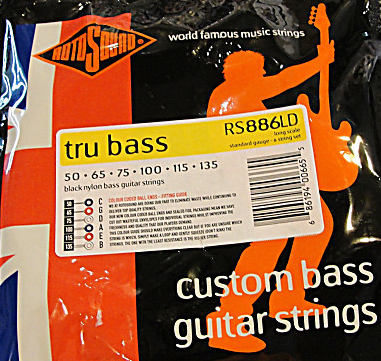 Roto Sound Tru Bass RS886LD Black Nylon (50-135 - long scale) 6-String Electric Bass String Sets