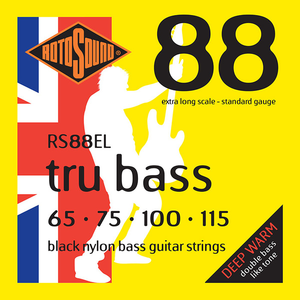 Roto Sound Tru Bass RS88EL Black Nylon (65-115 - extra long scale) 4-String Acoustic Bass String Sets