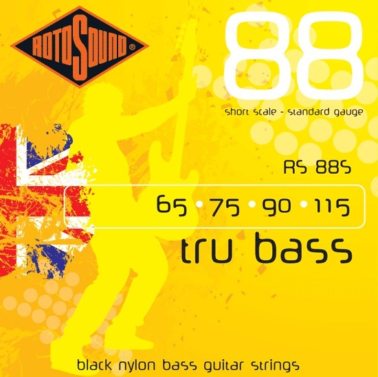 Roto Sound Tru Bass RS88S Black Nylon (65-115 - short scale) 4-String Electric Bass String Sets .065+