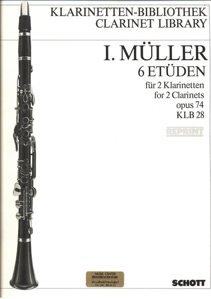 Schott Music I Müller 6 Etüden opus 74 Songbooks for Clarinet
