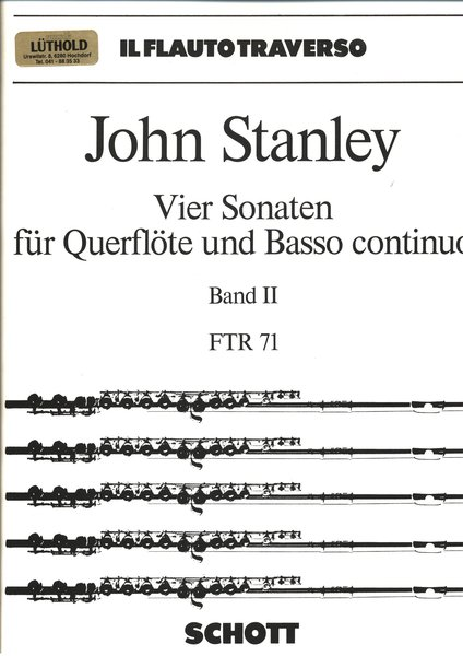 Schott Music IL Flauto Traverso John Stanley / Schule (Band II) Songbooks for Clarinet