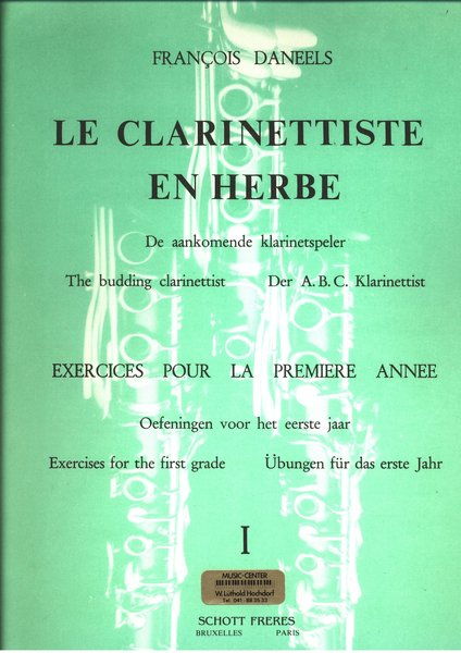 Schott Music Le Clarinettiste En Herbe I Songbooks for Clarinet