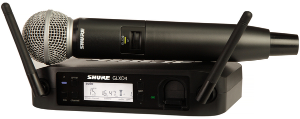 Shure GLXD24E/SM58 Demo (Digital) Wireless Systems with Handheld Microphone