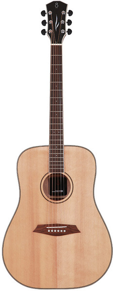 Sire R3 DS Larry Carlton's Signature Dreadnought SIB (natural) Akustične Gitare bez Cutaway sa Pickup