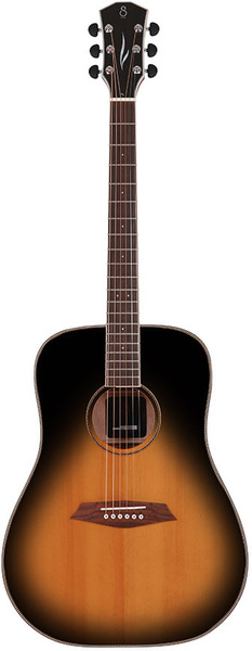 Sire R3 DS Larry Carlton's Signature Dreadnought SIB (vintage sunburst) Westerngitarrer med Pickup
