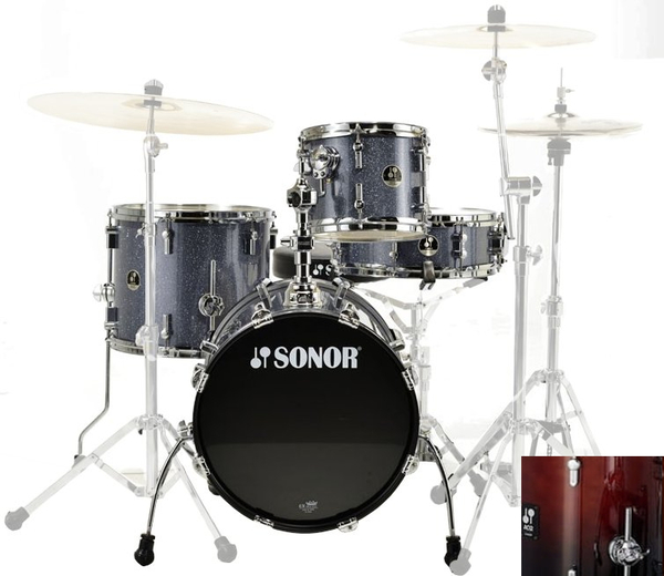 "Sonor SSE 10 Safari Set (brown fade) Acoustic Drum Kits up to 16"" Bass"