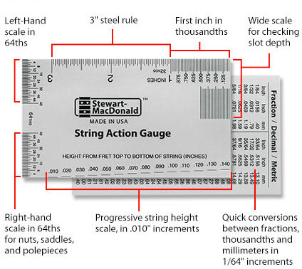 Stewmac String Action Gauge (Inches)