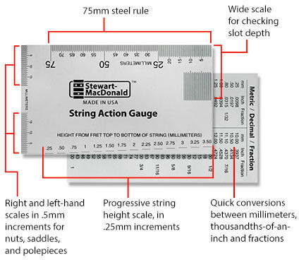 Stewmac String Action Gauge (metric)