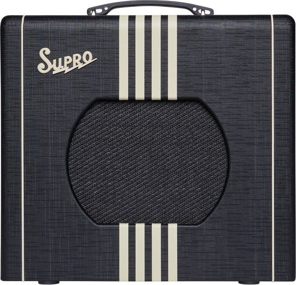 Supro Delta King 1x10 Tube Amplifier w/ Reverb (black & cream)