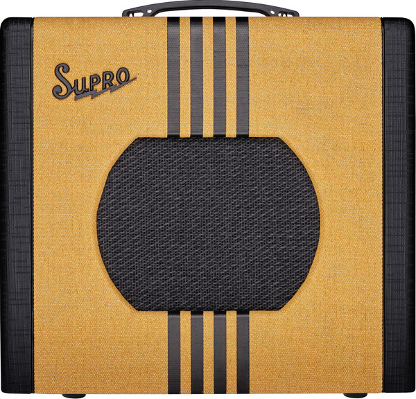 Supro Delta King 1x10 Tube Amplifier w/ Reverb (tweed & black)