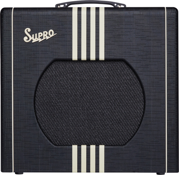 Supro Delta King 1x12 Tube Amplifier w/ Reverb (black & cream)